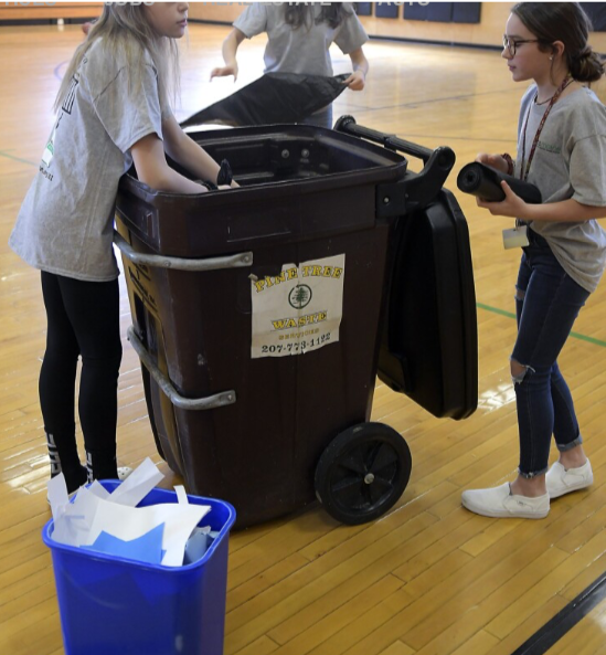 MCMS Students Featured in Kennebec Journal for Recycling Efforts