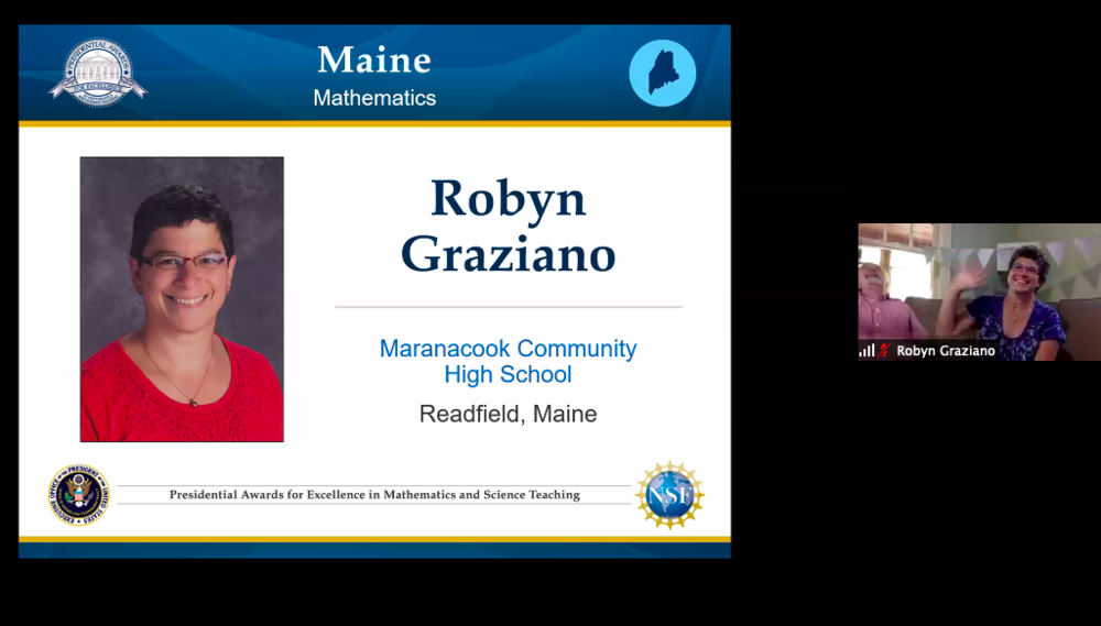 Math Presidential Award Winner--Robyn Graziano!