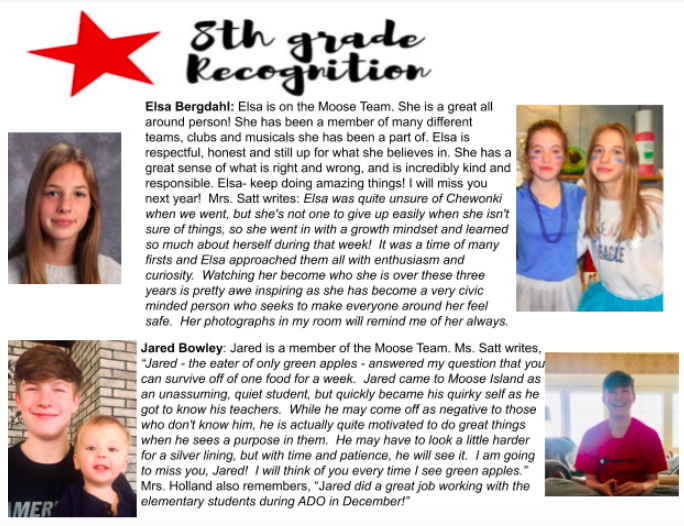 Eighth Grade Recognition