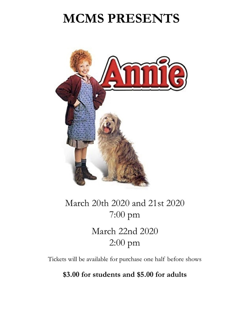 MCMS presents Annie!