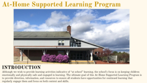 At Home Supported Learning program