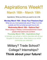Aspirations Week is coming up!