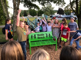 The new Buddy Bench at MES