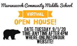MCMS Virtual Open House on 9/1/20