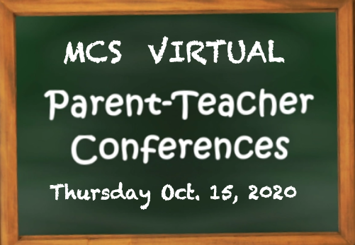 Virtual Parent Teacher Conference sign