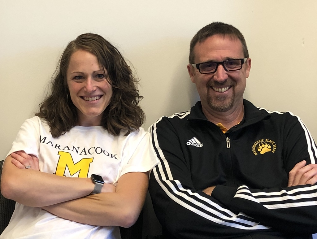 Meet the new Girls B soccer coaches! Athletic Director Brant Remington and Principal Kristen Levesque. All girls B practices end at 4:15- next practice is 9/16!