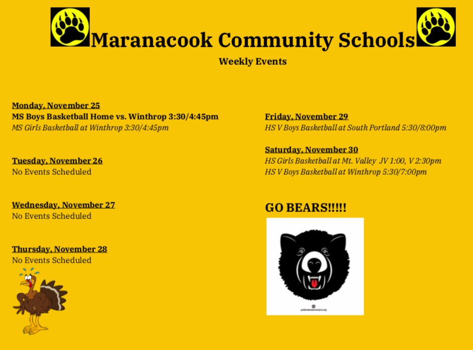 Weekly Events 11/25